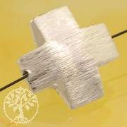 Silver Plus Brushed Sterling Silver 925 17x17mm