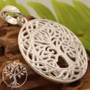Pendant Tree Of Life Bright Sterling Silver 925 28x32mm