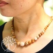 Landschaftsjaspis Kette aus Natur Jaspis verlaufende Halskette 48 cm