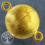 Magnetic Clasp Gold-plated brushed Ball 16 mm