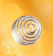 Silver Coil 25mm Spiral basket for gemstone pendants.