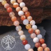 Botswana Achat Perlen Orange Kugel 4mm