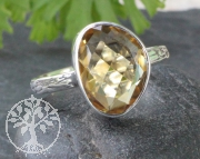 Citrin Ring - Zitrinring Sunshine Silber 925 Grösse 54 oder 59