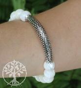 Shell bracelet Sterlingsilver 925 10mm 19cm
