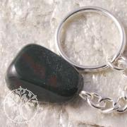 Heliotrop Schlüsselanhänger Edelstein mit Schlüsselring
