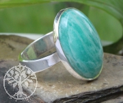 Amazonite Ring Oval Sterlingsilver 925 Size 51 20x23cm