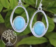 Larimar Gemstone Earring Sterlingsilver925 14X36mm
