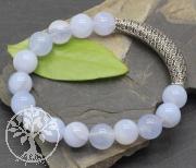 Silberperle Bogen groß für Armband oder Halskette 925er 45x9mm