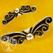 Feen Flügel 925er Silber Flügel-Perlen 14x5mm Klein