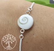 Armband Shivamuschel und Baum des Lebens Wechselarmband Silber 925  19cm