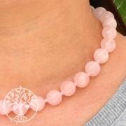 Rose quartz ball chain ca. 45cm/16mm