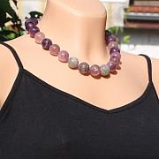 Regenbogen-Fluorit Hals-kette 45cm/16mm Perlen