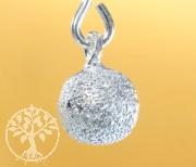 Silver Beads Brushed Pendant Sterlingsilver 925 7x5mm