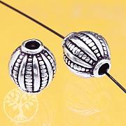 Silber 925 Perle Globus 8mm Loch ca. 2mm