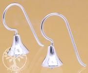 Ohrhaken Standard Lang Echt Silber 925 19x7mm zum Kleben