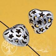 Herz Perle Silber 925 Sterne Mond 11x11mm