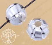 Silver Circle Round Beads Sterlingsilver 925 5.5mm 1.5mm hole Faro Bead