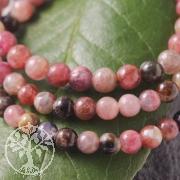 Red Tourmaline gemstone bracelet beads 5mm