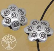 Silber 925 Zwischenteil Blume 6x17mm