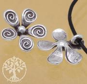 Silber 925 Zwischenteil Anhaenger Blume 5x16mm