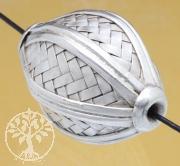 Silver Beads Weave Sterlingsilver 925 25x38mm
