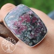Eudialyt Edelstein Ring Silber 925 Rechteck 24x33mm Größe 57