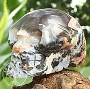 Sardonyx Edelstein Schädel A 100/150mm Kristallschädel