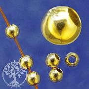 Gold Perle 6mm Loch 2,4mm Großloch Perle Kaschierperle Goldfilled 1/20 14K Ham.