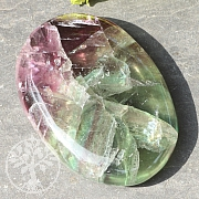 Fluorit Regenbogen Flachstein Big A 50x70mm
