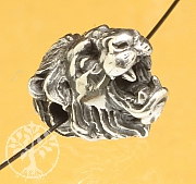 Löwenkopf Perle Sterlingsilber 925 11mm 2mm Loch