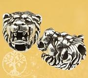 Silberperle Löwenkopf Sterling Silber 925 11x10mm