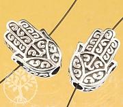 Silber Perlen Hand der Fatima Silber 925 18x12mm