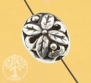 Silberperle Flora Sterling Silber 925 13x11mm