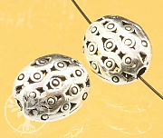 Silver Bead Sterling Silver 925 12x10mm