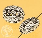 Silver Bead Sterling Silver 925 basket pattern 12x10mm