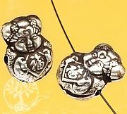 Silberperle chinesisches Mädchen Glück Sterlingsilber 925 15x12mm