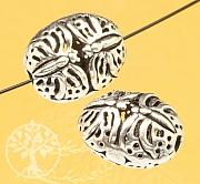 Schmetterling Silber Perle oval Sterlingsilber 925 12x10mm