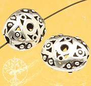 Silber Perle Raute Auge Iris Sterlingsilber 925 12x9mm