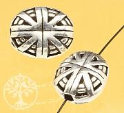 Silberperle Britain Sterling Silber 925 13x11mm