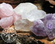 Wassersteine Rohstein-Set 2 Rosenquarz, Bergkristall, Amethyst 1kg