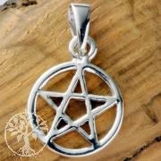 Pentagramm Mini PE22 12mm Silberanhänger 925
