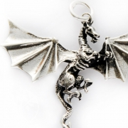 Dragon Pendant in Sterling Silver D25