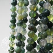 Achat Moos Edelstein Perlen 8 mm Kugel