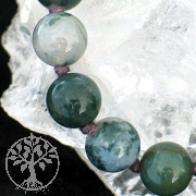 Moss agate-neclace 60/8