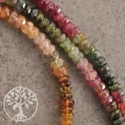 Turmalin Bunt Halskette Facettierte Perlen A 3.5mm