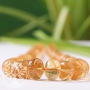 Citrin Edelstein Perlen Button Verlauf 6-12 mm