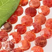 Feuerachat Disc Perlen facettiert 8mm