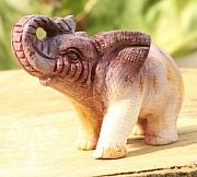 Mookait Edelstein Elefant 75mm Gelb/leicht rot