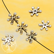Silver Flower Bead Sterlingsilver 925 7mm