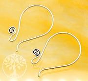 Ohr Haken für Ohrringe 1 Paar Sterlingsilber 925 20mm